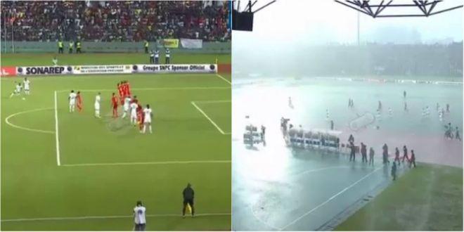 APOCALIPSA pe stadion! Terenul s-a inundat intr-o secunda! Imagini ireale in preliminariile pentru Cupa Africii. VIDEO