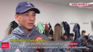 "Un pusti roman joaca la Bayern si vrea sa calce pe urmele lui Lewandowski: ""Prima data cand am ajuns la echipa, am vazut cum se sta in teren"""