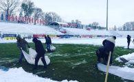 Inca un COSMAR pentru Dica! Stadionul lui Poli Iasi, acoperit cu zapada! Cum arata cu cateva zile inaintea meciului cu FCSB