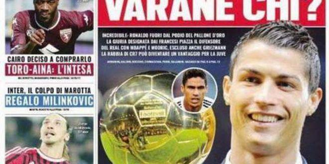 Varane cine?  Ce poza a postat Ronaldo dupa ce a aflat ca nu e finalist pentru Balonul de Aur!