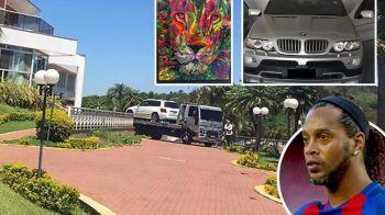 Pana unde s-a ajuns! Autoritatile i-au luat masinile lui Ronaldinho, dupa ce a ramas cu 6 euro in cont! De la ce a pornit totul