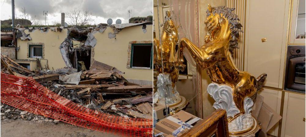 Guvernul italian le-a declarat razboi mafiotilor! Imagini incredibile: politistii au intrat cu buldozerele in vilele poleite cu aur