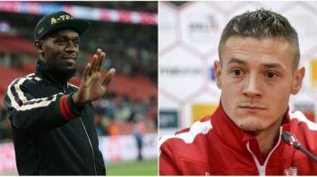"""Cum a reactionat Torje cand a aflat ca Bolt ii poate lua locul in echipa: """"El vine ca fotbalist, nu ca atlet! Imi dau una peste gura daca nu e asa"""""""