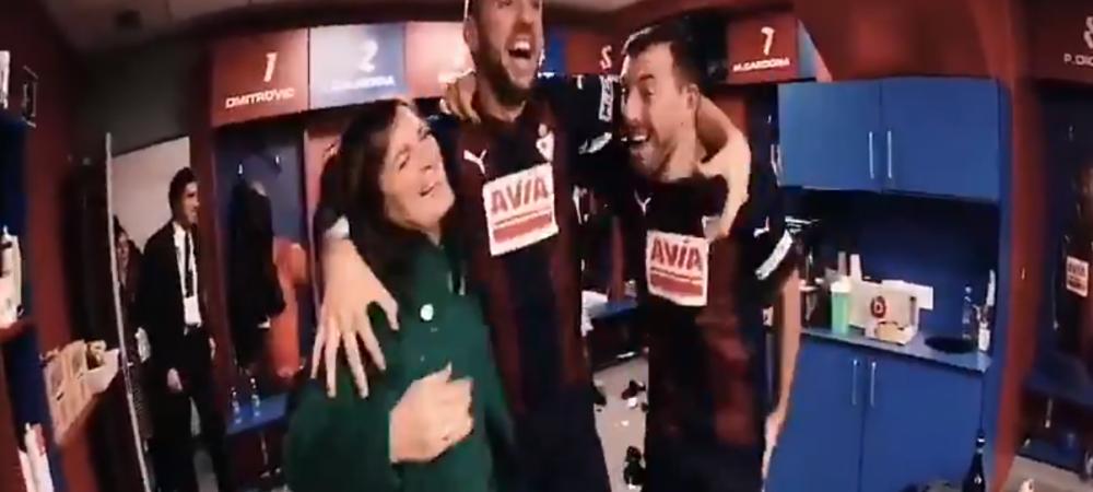 Momentele care nu s-au vazut la TV, dupa umilinta incasata de Real Madrid la Eibar! Sefa bascilor s-a dus in vestiar cu sticla de sampanie