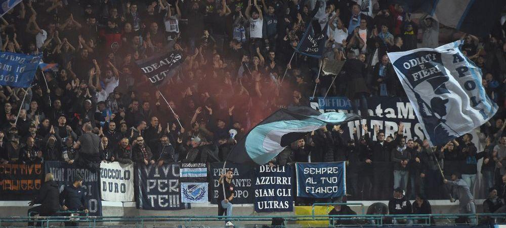 """""""Bucuresti? Va spargem!"""" MESAJ RAZBOINIC al fanilor lui Napoli la meciul cu Steaua Rosie: au gresit destinatarul :)"""