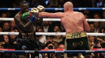 """Wilder l-a trimis de doua ori la podea pe Fury, dar arbitrii au dat meci egal! """"Amandoi ne-am lasat inimile aici, in ring!"""""""