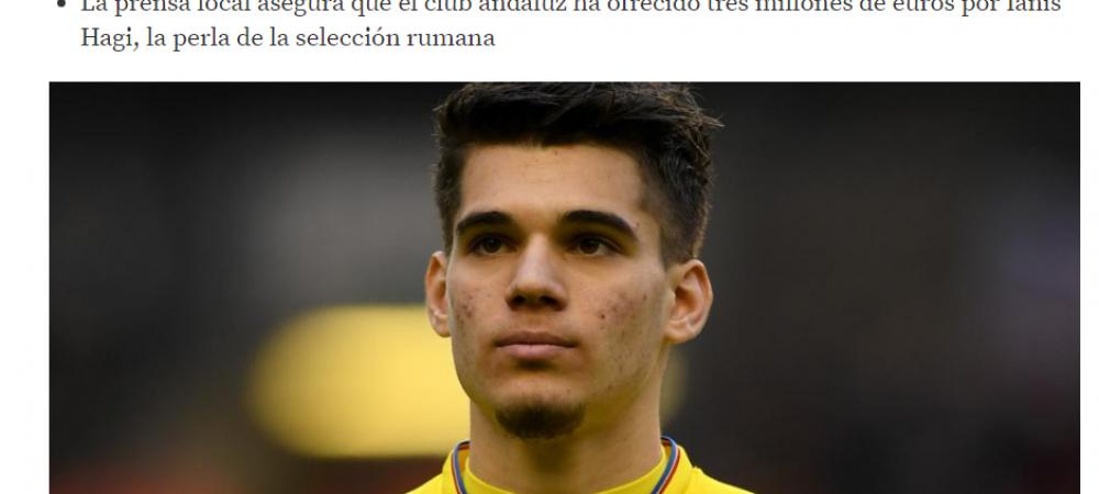 Ce planuri are Sevilla cu Ianis Hagi! Anuntul facut de Mundo Deportivo si de ce ar putea REFUZA intr-un final Gica Hagi oferta spaniolilor