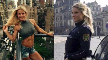 "Ce i-au facut sefii celei mai sexy politiste din Germania: ""Ai pana luni sa iei o decizie!"" GALERIE FOTO cu frumoasa Adrienne"