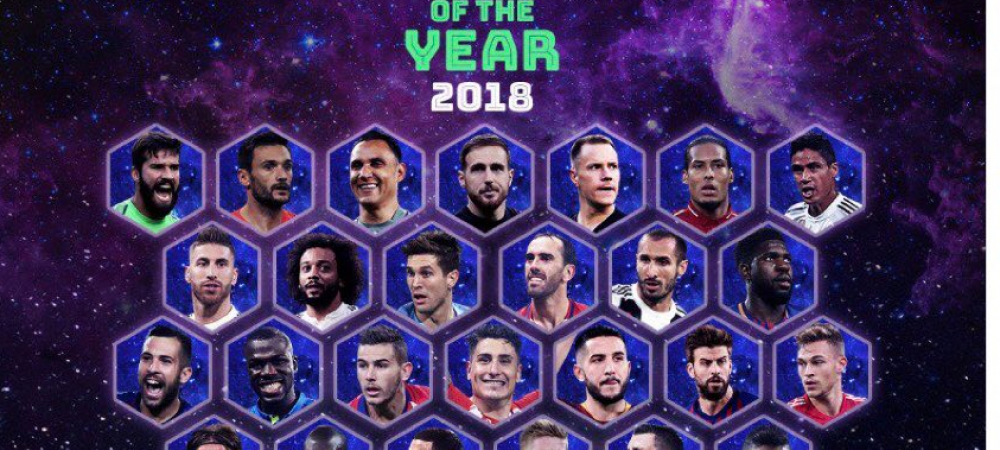 Nominalizarile pentru echipa anului 2018! Real Madrid are noua candidati | LISTA COMPLETA