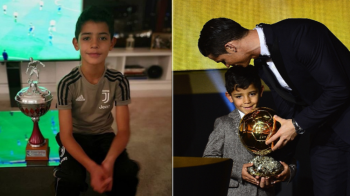 Dinastia Ronaldo continua! Primul premiu individual castigat de Cristiano Jr! Are doar 8 ani si joaca la Juve! FOTO