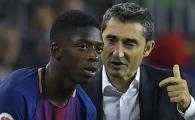 """Replica fabuloasa a lui Valverde pentru """"Alibec al Barcei"""", dupa ce francezul a dat golul Barcelonei aseara, cu Tottenham"""