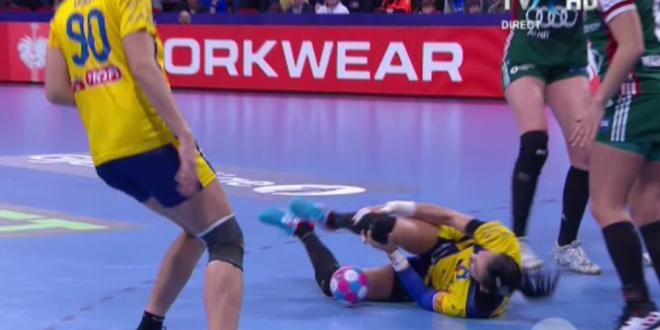 ULTIMA ORA | Prima reactie a Cristinei Neagu dupa accidentarea teribila de la EURO:  Ma simt rau! Mi s-a umflat piciorul!