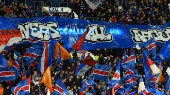 """""""Luati aminte! E mult mai tare ca berea!"""" :) Suporterii celor de la Rangers, avertizati de politistii austrieci inainte de meciul cu Rapid Viena! MESAJUL VIRAL"""