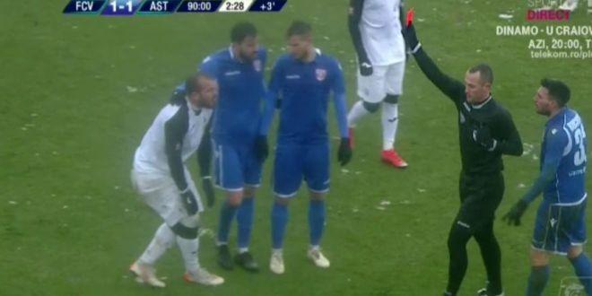 Alibec a facut scandal dupa eliminare:  Nu te uiti la faza, dai rosu fara sa vezi? Acum, sa joci tu cu Dinamo!