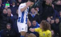 FOTO   Florin Andone a oferit imaginea zilei in Premier League! Si-a incordat muschii la David Luiz: cum s-a terminat faza