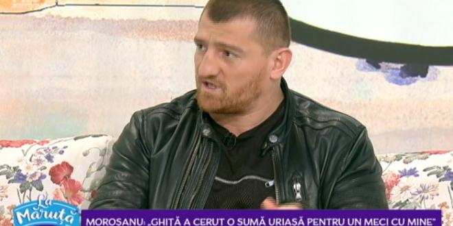 Morosanu, PROVOCAREA SUPREMA pentru Ghita:  E ca si cum l-ai pune pe Gica Hagi sa joace contra unui pusti de 20 de ani!  Cand poate avea loc cea mai asteapta gala din Romania