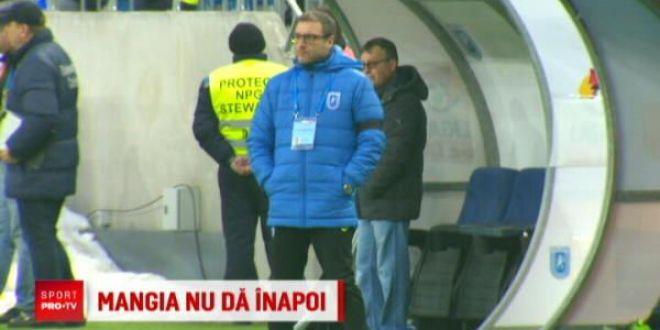 Mangia nu se gandeste sa plece:  Demisie? Adica eu sa...EXCLUS!  Craiova i-a prelungit contractul portarului care a luat 3 goluri de la Dinamo