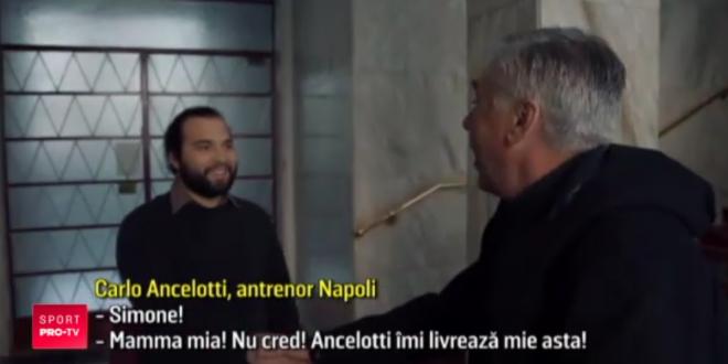 Momentul acela in care Ancelotti iti bate la usa! Genial:  Don Carlo  s-a facut postas de sarbatori si le-a livrat fanilor tricourile comandate