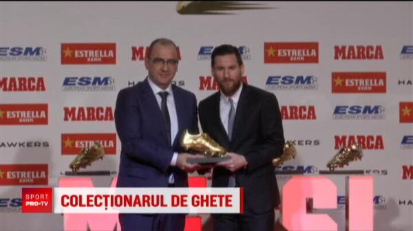 Leo Messi, de 5 ori Gheata de Aur! Un nou record ISTORIC stabilit de atacantul Barcelonei. VIDEO