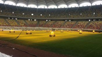FOTO | Cum arata gazonul de pe Arena Nationala cu o zi inainte de FCSB - CFR! Reactia imediata a lui Becali