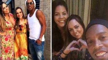 Sa iubesti doua femei... :)) Ronaldinho s-a impacat cu cele doua iubite ale sale si vor petrece Revelionul impreuna! Cum arata Beatriz si Priscilla: FOTO