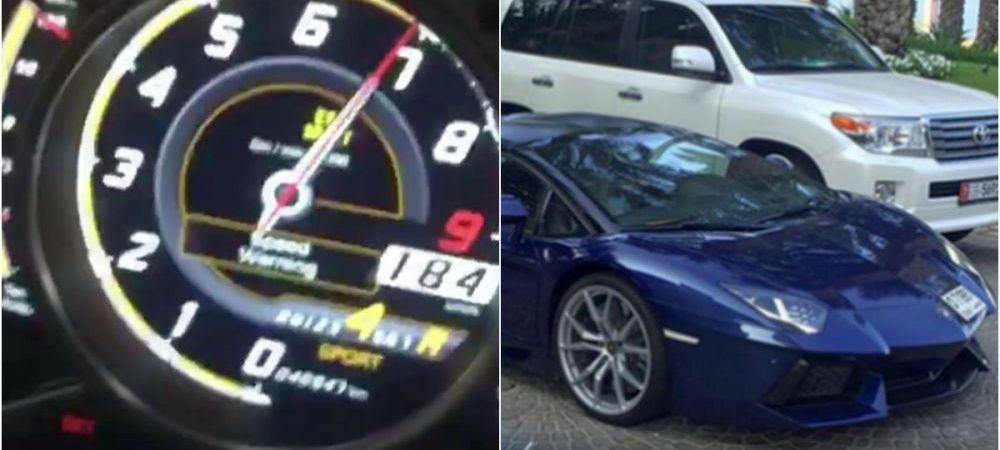 "Fotbalistul din Liga I care si-a inchiriat Lamborghini la Dubai si ""s-a dat"" cu peste 180 km/h. FOTO"