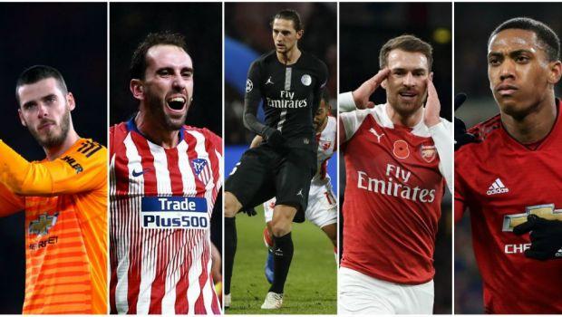 11-le de Liga care poate semna de astazi cu orice echipa! De Gea, Godin si Martial, in ultimele 6 luni de contract!