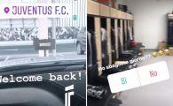"""Am gresit ziua?"" Vedeta lui Juventus care s-a intors din vacanta si n-a gasit pe nimeni in vestiar! FOTO"