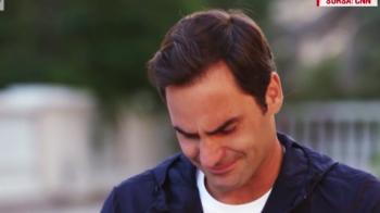 IMAGINI CUTREMURATOARE | Roger Federer, in lacrimi in timpul unui interviu! Tragedia care l-a marcat pe elvetian