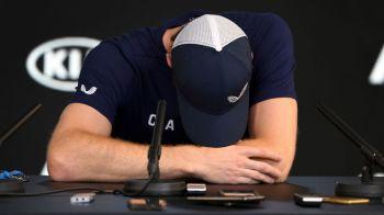 """Momente SOCANTE la Australian Open! Andy Murray a stat 100 de secunde la conferinta de presa si si-a anuntat in lacrimi RETRAGEREA: """"Sper sa rezist pana la Wimbledon!"""""""