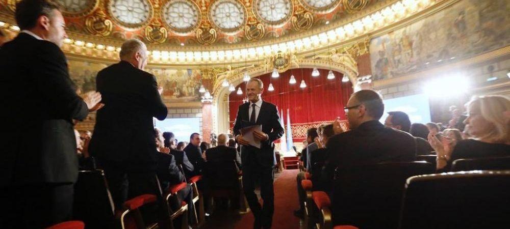 """""""Iarta-ne, domnule Tusk, ca nu aparam ca Duckadam!"""" Bogdan Hofbauer dupa discursul impresionant al lui Donald Tusk la Ateneu"""