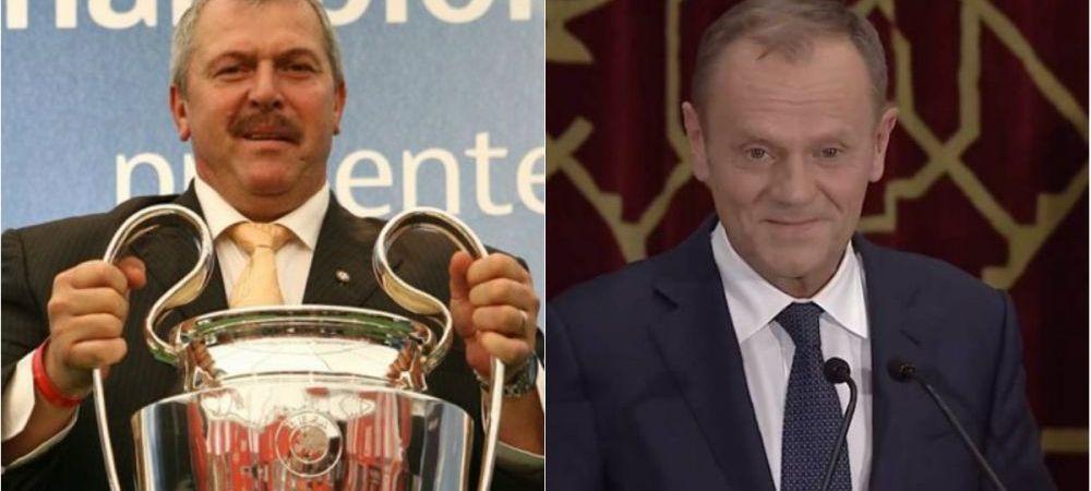 Cadoul senzational pe care Duckadam i l-a trimis lui Donald Tusk, presedintele Consiliului Europei, dupa discursul de la Bucuresti: FOTO