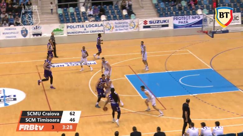 ACUM LIVE SCM Craiova - BC Timisoara, in Liga Nationala de Baschet Masculin