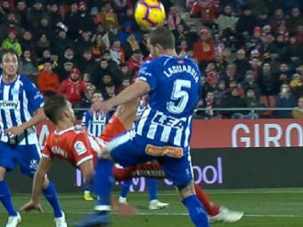 """VIDEO: Golul saptamanii! Foarfeca """"Zlatan"""" cu care Stuani i-a cucerit pe spanioli"""