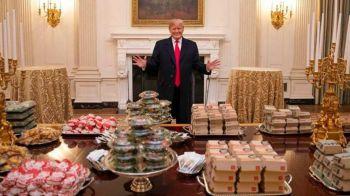 """""""As vrea sa fac si eu o comanda de 1.000 de hamburgeri! Adresa: Casa Alba!"""" Trump a oferit faza zilei in America: momentul care face inconjurul internetului"""