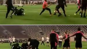 VIDEO: Reactia lui Neymar dupa ce un suporter a patruns pe teren si s-a luptat cu fortele de ordine sa ajunga la el