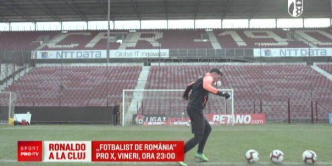 RONALDO  din Liga 1 joaca la CFR Cluj si si-a lasat fara cuvinte colegii la antrenamente:  Ce e asa complicat?!