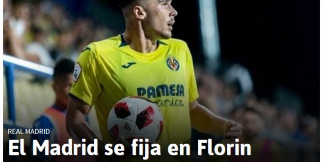 Real Madrid il cumpara pe Florin!  Anuntul facut pe prima pagina de spanioli! Romanul care ajunge la campioana Europei