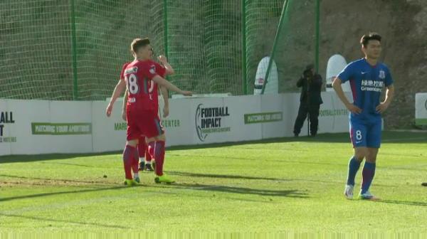 Florin Tanase inscrie primul gol in era Teja, in partida cu Shanghai Shenhua