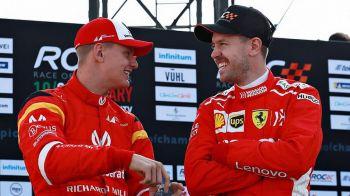 """FENOMENAL! Fiul lui Schumacher l-a invins pe Vettel: """"Michael e foarte mandru de el!"""""""
