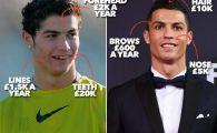 """""""Miracolul operatiilor estetice!"""" Catalanii nu-l iarta pe Ronaldo! Au reconstituit toate modificarile portughezului. FOTO"""
