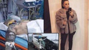 Imagini video realizate la putin timp dupa accidentul din Cluj, in care si-a pierdut viata o studenta