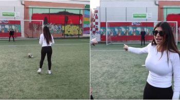 """""""Am jucat fotbal pentru prima data in viata mea"""" Starleta Mia Khalifa a dat fotbalul american pe sportul rege! Cum s-a descurcat :) VIDEO"""