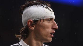 """Prima imagine cu Luka Modric dupa accidentarea din meciul cu Sevilla! """"Frumos ochi :)"""" Si-a facut selfie cu un prieten: cum arata croatul"""