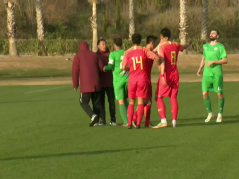 Moment halucinant in timpul partidei amicale a unei echipe din Liga 1! Antrenorul a fost aproape sa se ia la BATAIE cu jucatorul sau