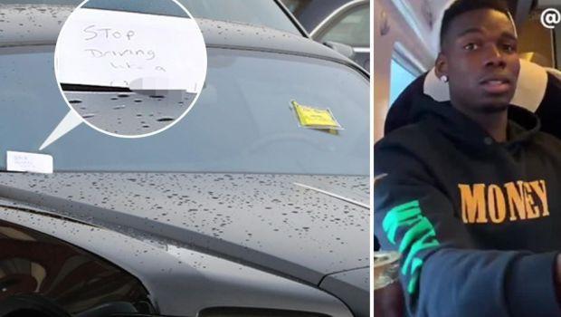 """""""Inceteaza sa conduci ca un IDIOT!"""" Pogba, amenda si mesaj INCREDIBIL in parbrizul masinii sale de 330.000 euro. FOTO"""