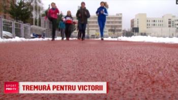 """Ca fuga pe gheata! Atletii romani se antreneaza in conditii extreme: """"E ca la patinoar! Ti se blocheaza picioarele! La concursurile din sala ne sufocam"""". VIDEO"""