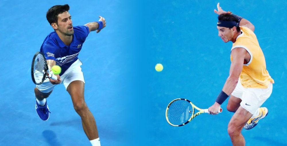 Novak Djokovic - Rafael Nadal, MECI DE GALA in finala de la Australian Open! Va fi batalia cu numarul 53 pentru granzii din ATP