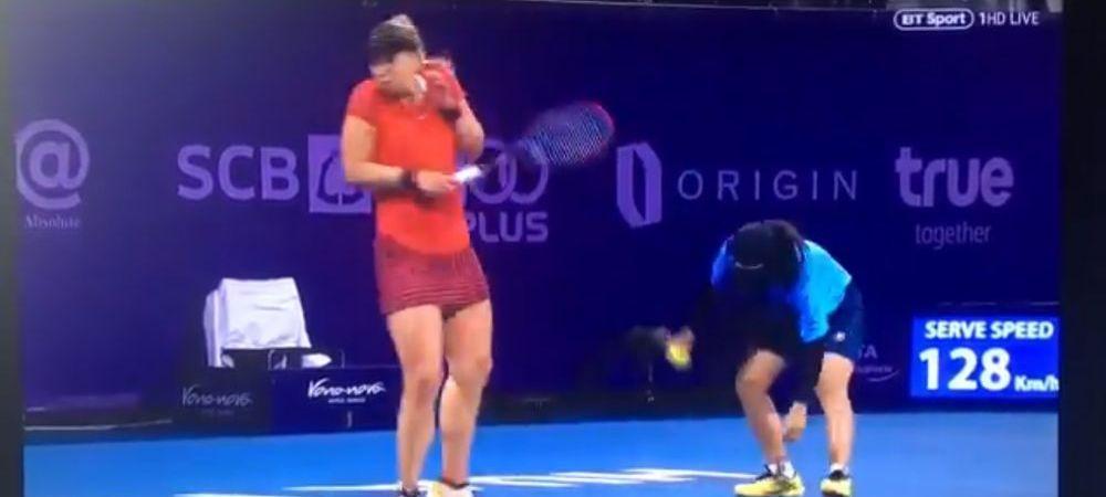 Faza zilei in tenis! Sabine Lisicki s-a straduit sa crute viata unui gandacel, dar copilul de mingi a facut-o sa urle! Ce s-a intamplat
