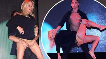 Pamela Anderson, DANS INCENDIAR la 51 de ani! Cum a uimit iubita lui Adil Rami. FOTO